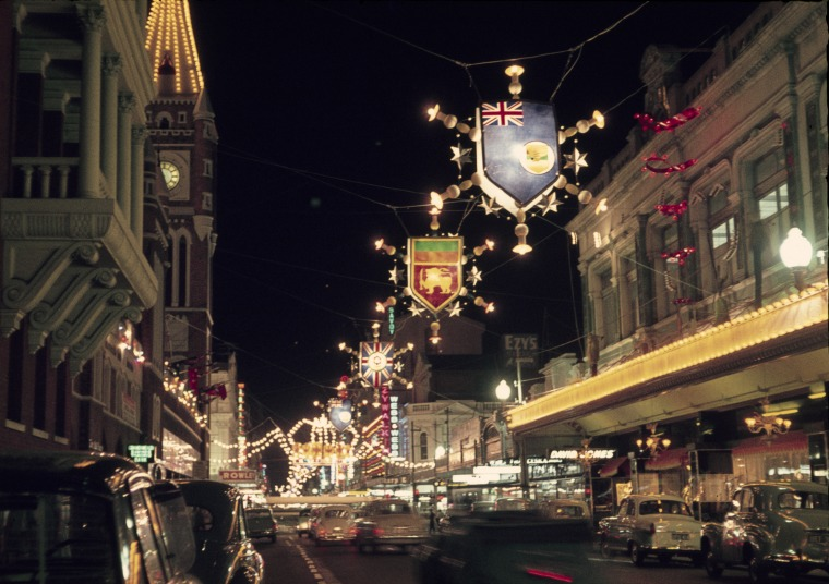 Hay Street, with decorations for Empire and Commonwealth Games, 1962