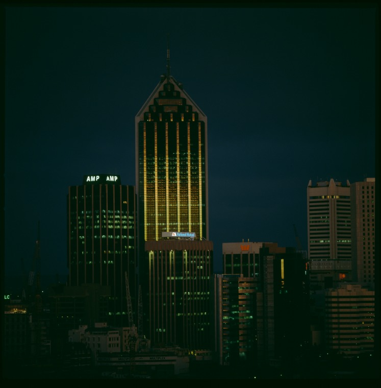 Perth skyline in the evening light, 1990