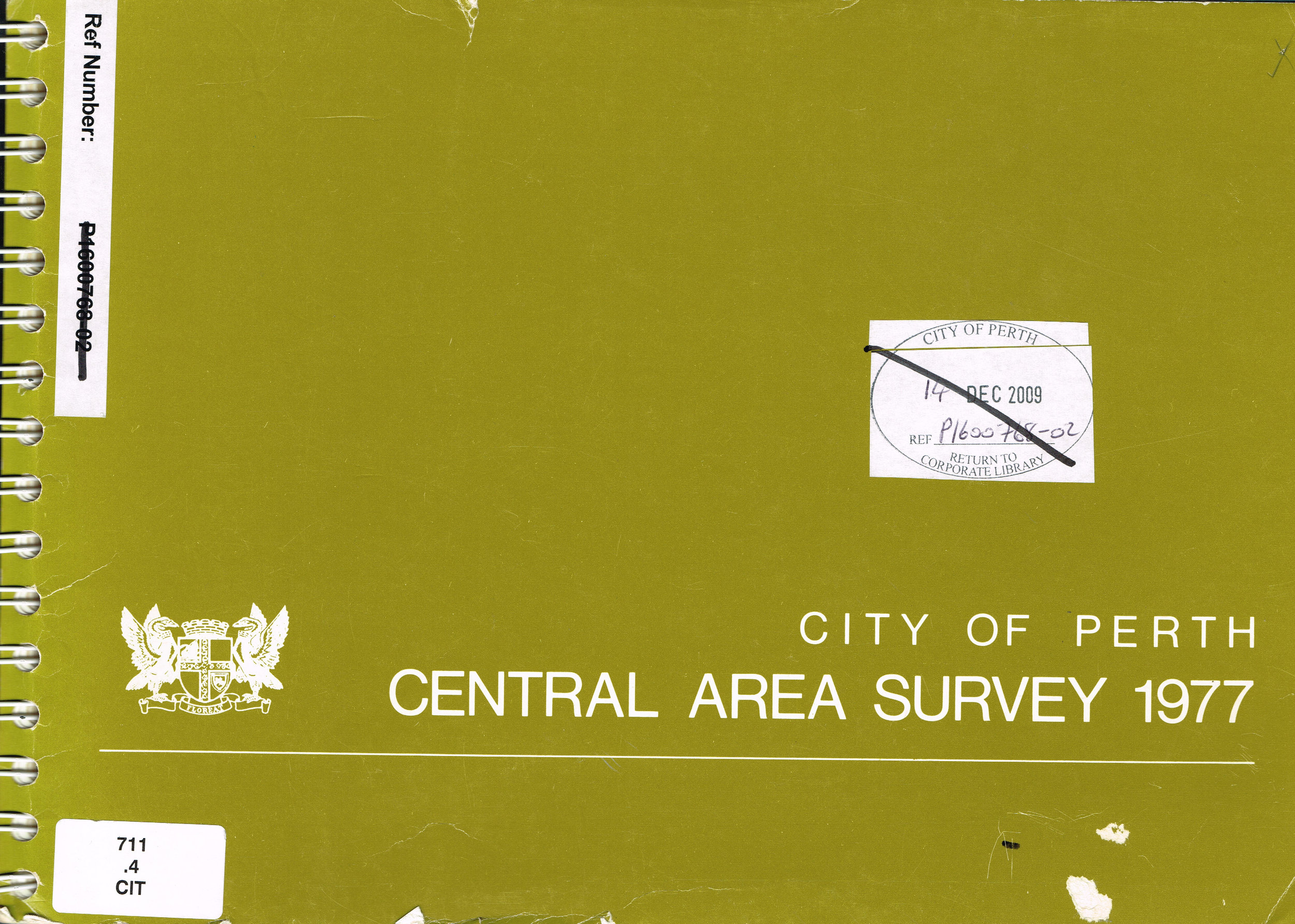 Central Area Survey 1977  City of Perth