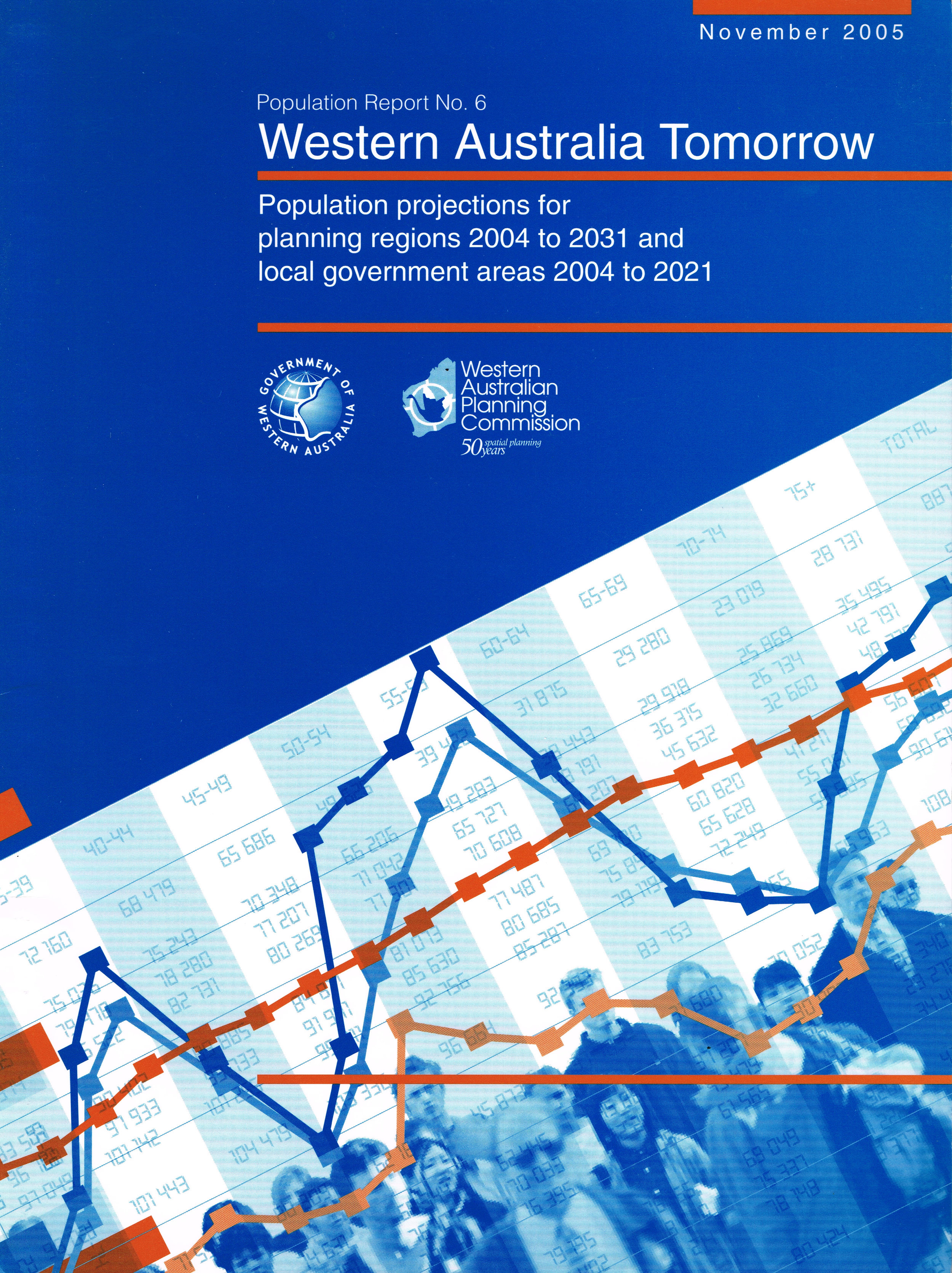 Western Australia tomorrow : population projections for planning regions 2004 to 2031 and local government areas of Western Australia 2004 to 2021.  Western Australian Planning Commission, November 2005