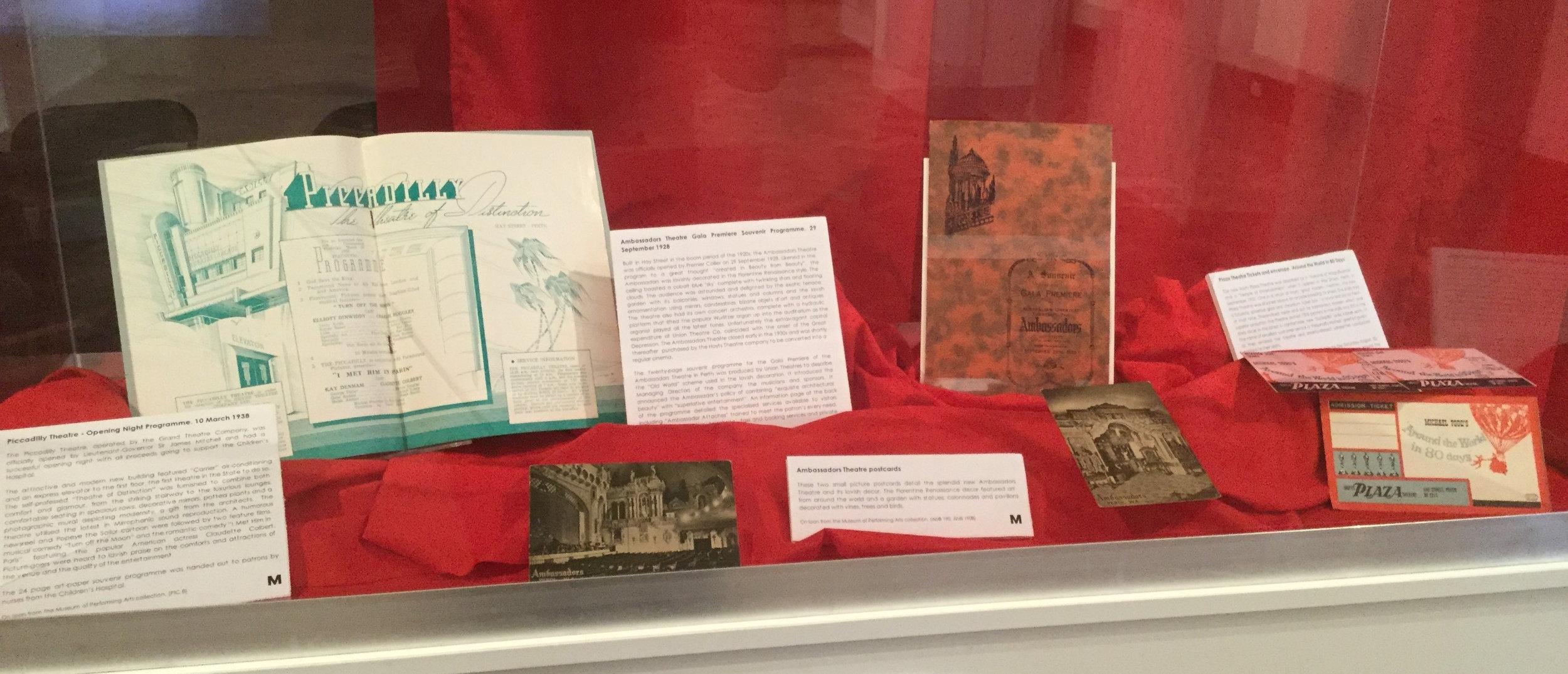 Historical memorabilia of Perth's theatres