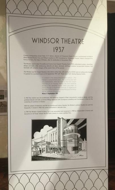 Windsor Theatre information display