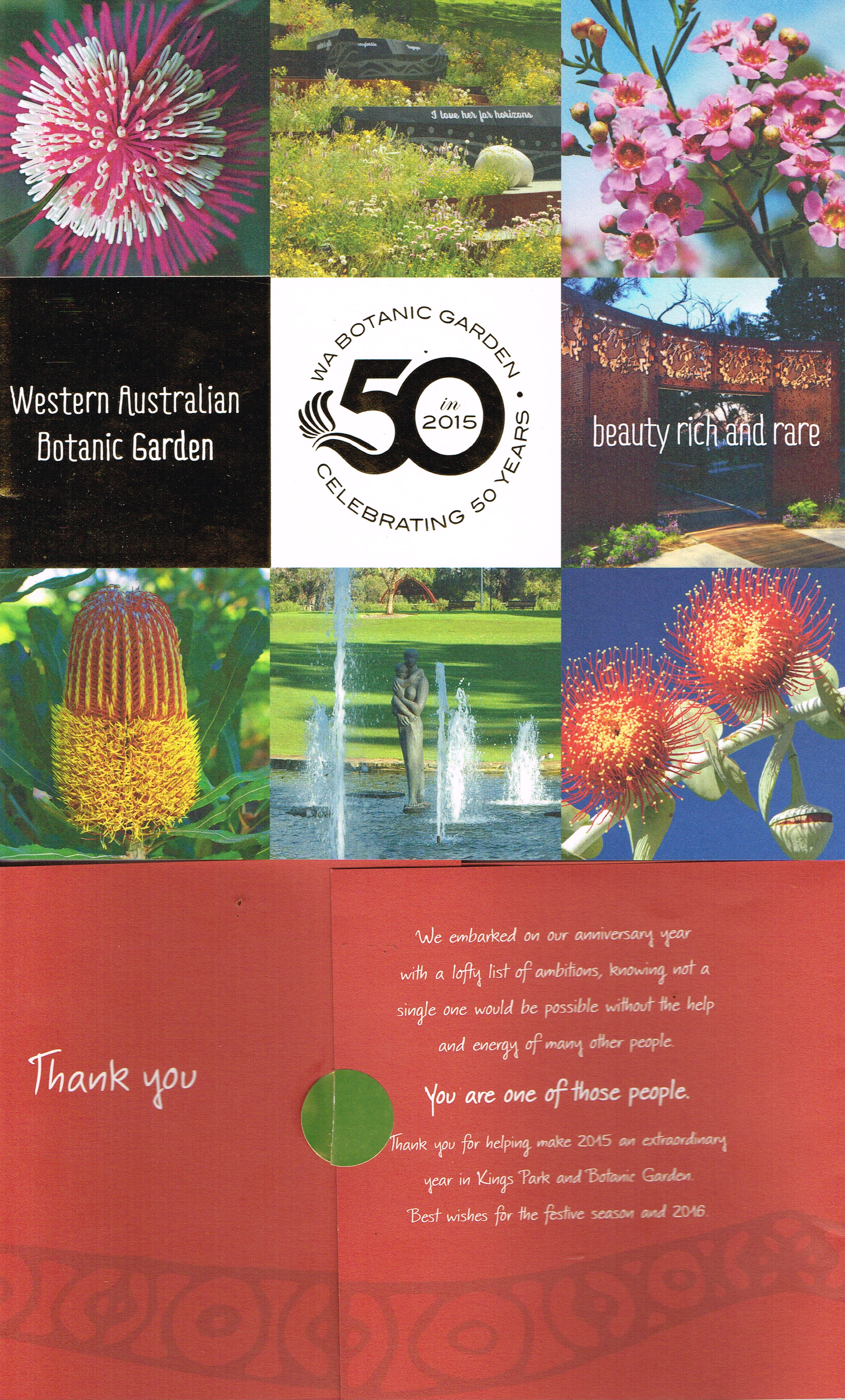 Western Australian Botanic Garden : WA Botanic Garden Celebrating 50 Years   Government of Western Australia and Kings Park & Botanic Garden, Botanic Gardens & Parks Authority