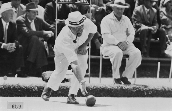 One of the most popular sports at the time, the lawn bowls was held at Dalkeith Nedlands Bowling Club and attracted much fanfare. Each event lasted for 12 rounds over a gruelling 4 hour period. English bowler David Bryant (above) emerged the undeniable victor of the men's singles, winning all twelve rounds to take home gold, while Rhodesia & Nyasaland (now part of modern day Zimbabwe) achieved an upset win over England in the bronze medal play-off in the men's pairs. (Supplied: State Library of Western Australia)