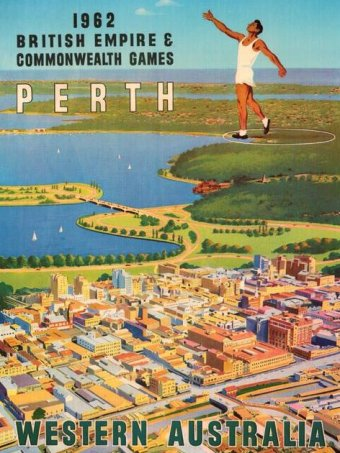 Promotional poster for the 1962 Games. (Supplied: ABC)