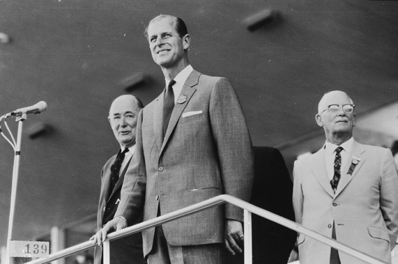 HRH Prince Philip, Duke of Edinburgh at the opening ceremony, 22 November 1962. (Supplied: State Library of Western Australia)