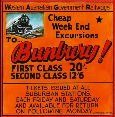 Advertisement for Perth-Bunbury Service (Supplied: State Library of Western Australia)