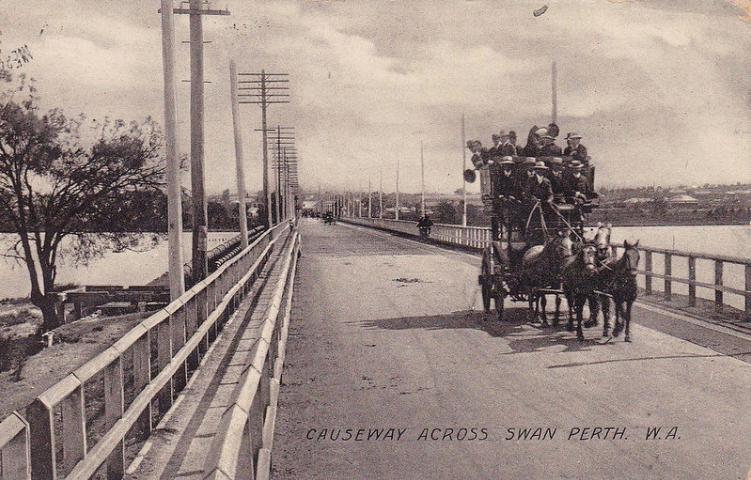 """Causeway Across Swan Perth WA"", 1905 (Supplied: flickr)"