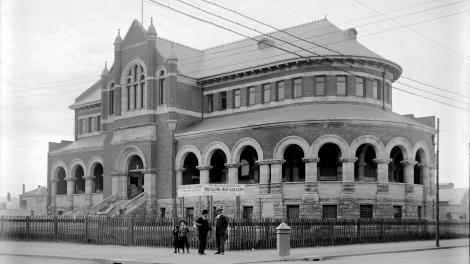 The size of the gaol building proved to be too small for the newly established Perth Museum, so in 1895 a new building was designed by colonial architect George Temple Poole. Built between 1897 and 1899, the Jubilee Building, named for HM Queen Victoria's Golden Jubilee, was constructed on the north side of the James Street Mall, in front of the origiinal gaol site. The Perth Gaol building was then converted to storage for the Western Australian Museum, and remains in use in this capacity to this day. Pictured, The Jubilee Building in 1900. (Supplied: Western Australian Museum)