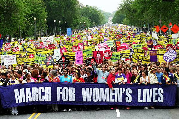 Photo by Feminist Majority, March For Women's Lives, 2004