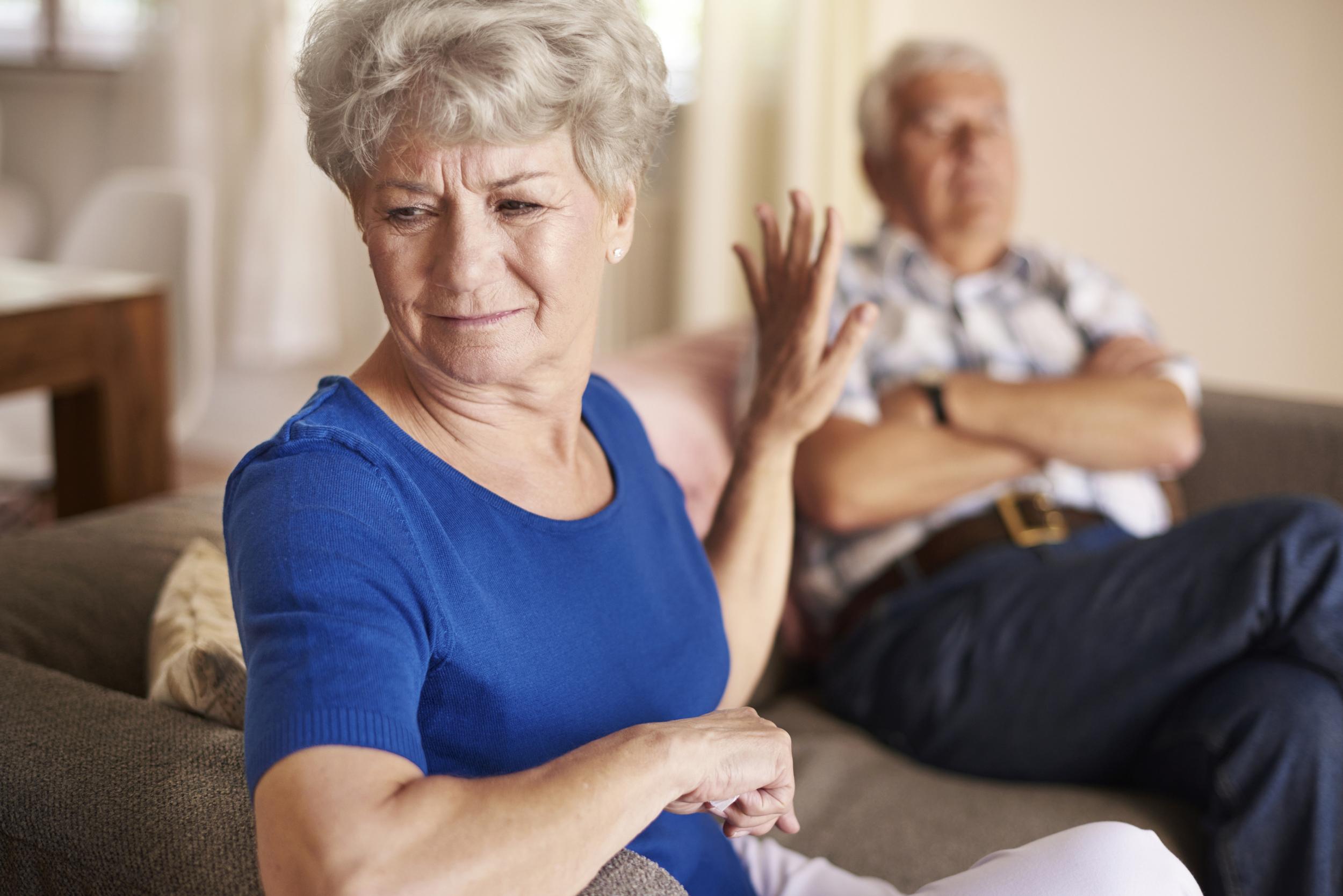 Elderly Couple Arguing