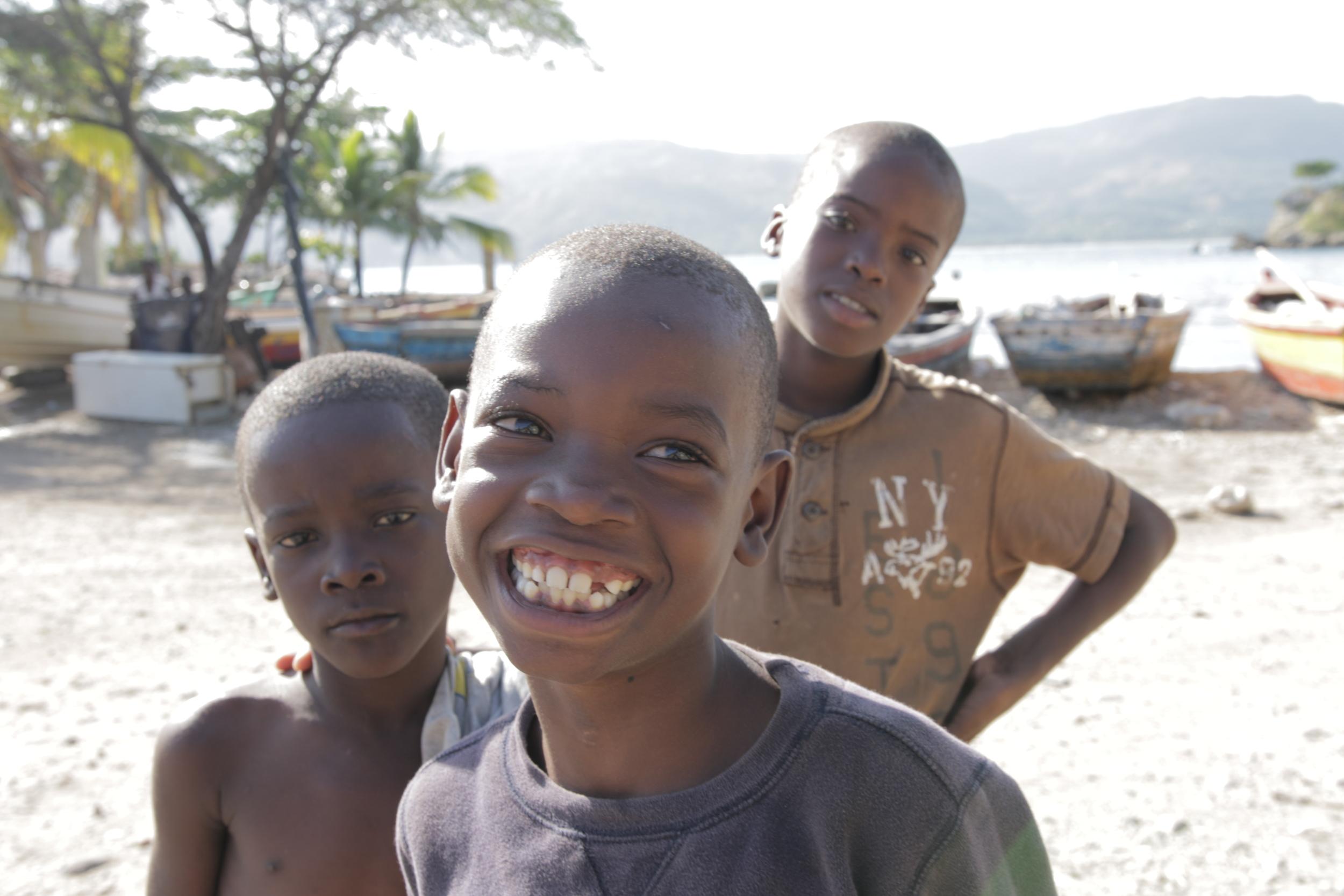 Children smiling in Haiti