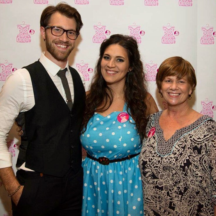 Chase Lee, Grace Emden and her mother, Paula Calandro at BUST 2014.