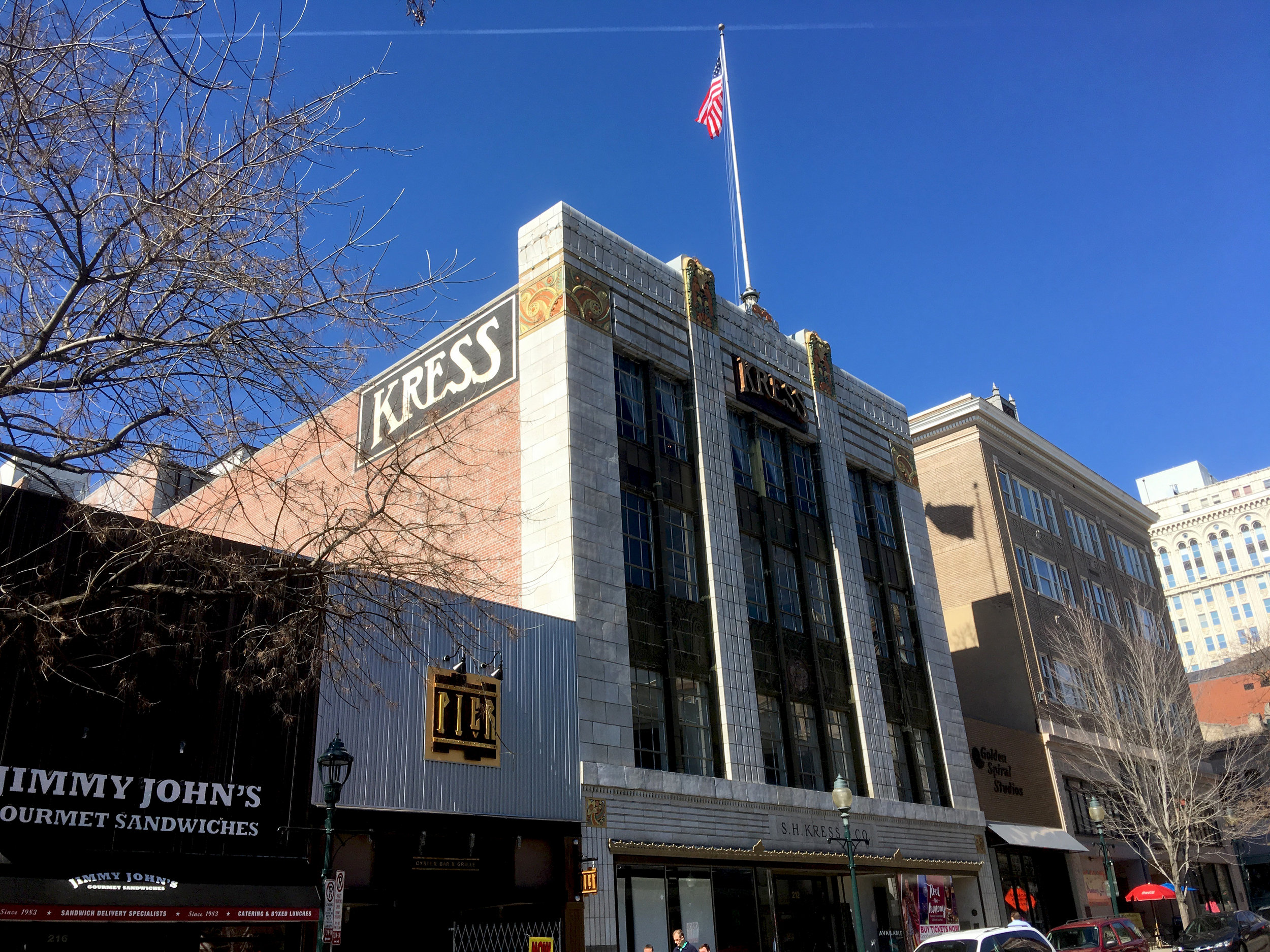 """S. H. Kress & Co. was the famous """"five and dime"""" store present in the downtowns of hundreds of American cities. It also played a role in the Civil Rights movement here."""