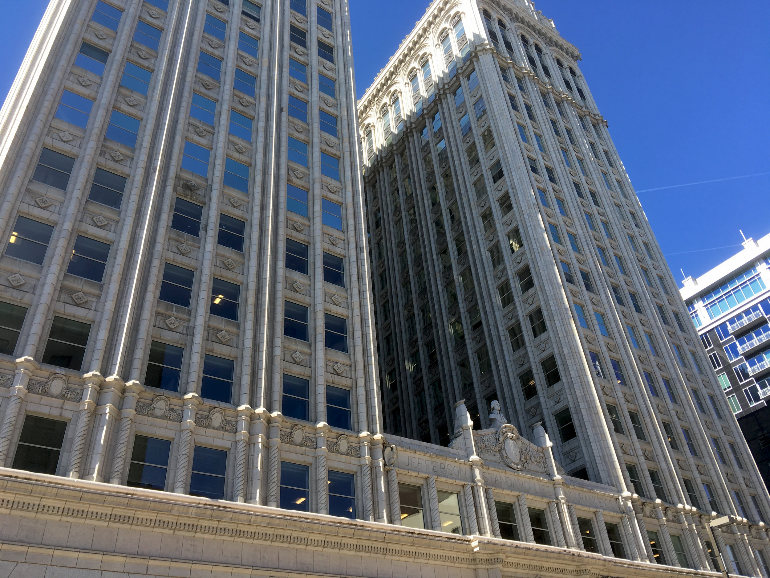 The Jefferson Standard Building was the tallest skyscraper between DC and Atlanta until 1927. Fun fact!!!!!!111
