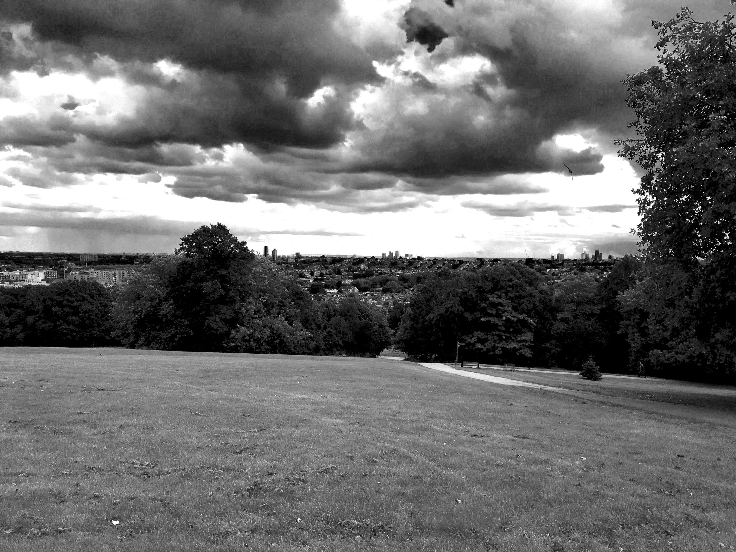 View of Central London from Alexandra Palace.