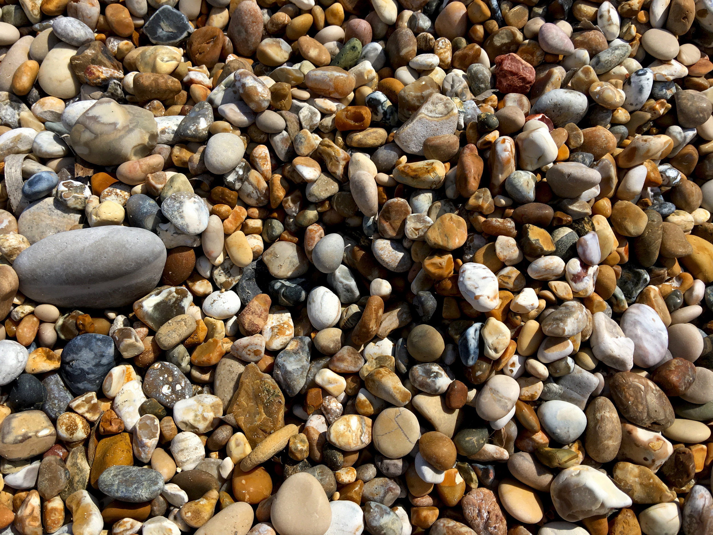 Pebble beaches may not be great for lying on, but they are beautiful.