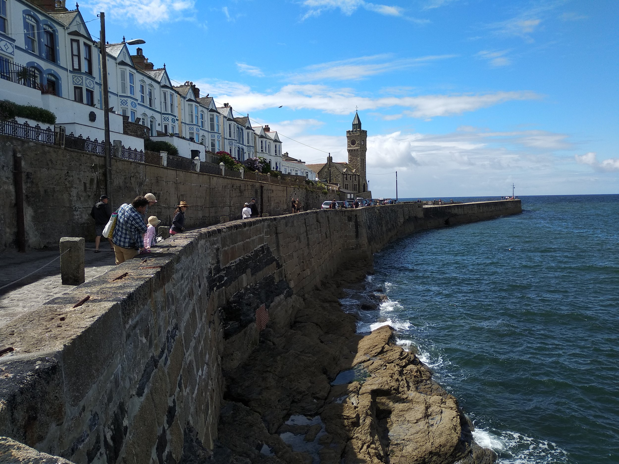 The harbor-front at Porthleven, a biggish town with the most southerly port in the UK.