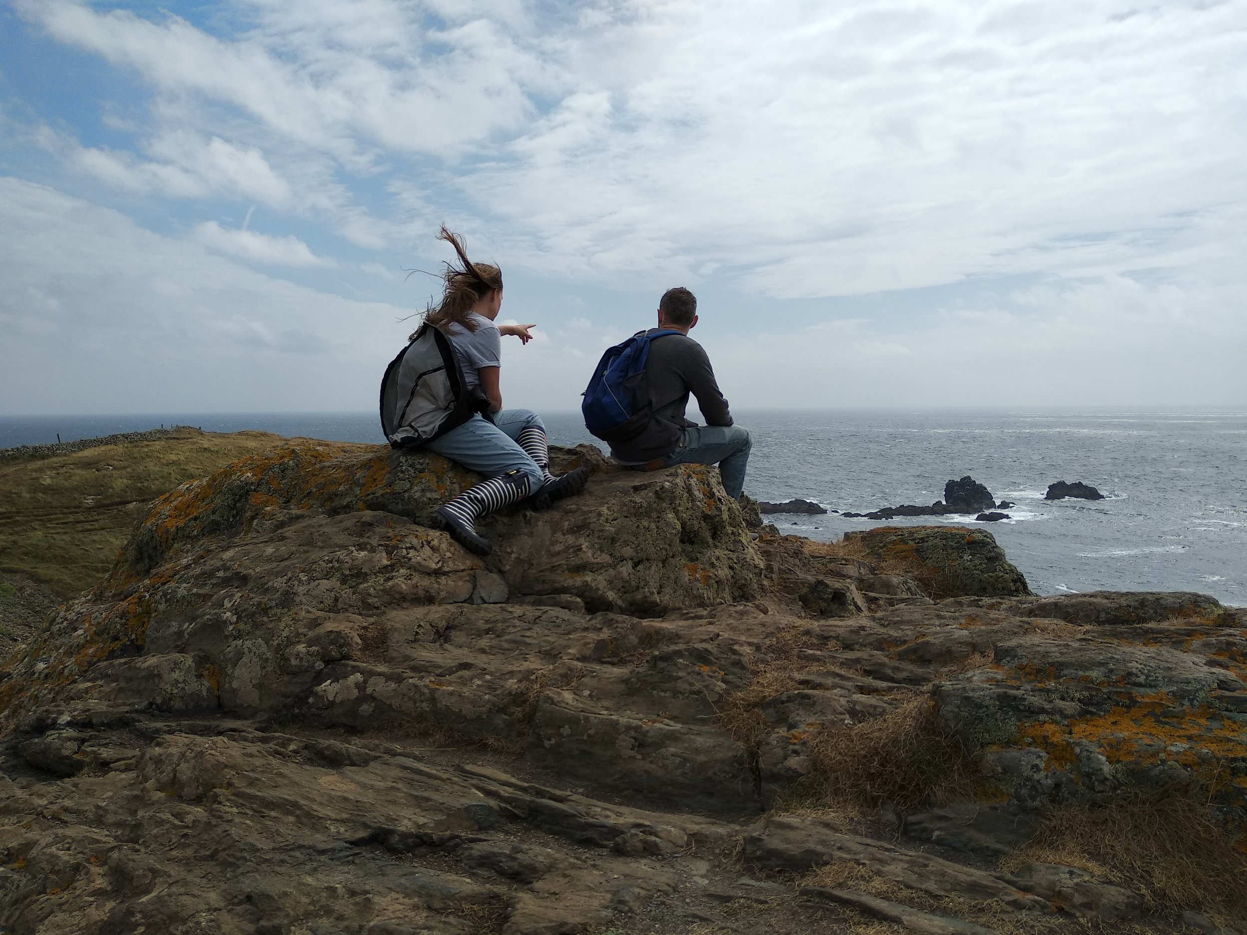 Our good friends Katie and Simon, walking in and around Lizard Point.