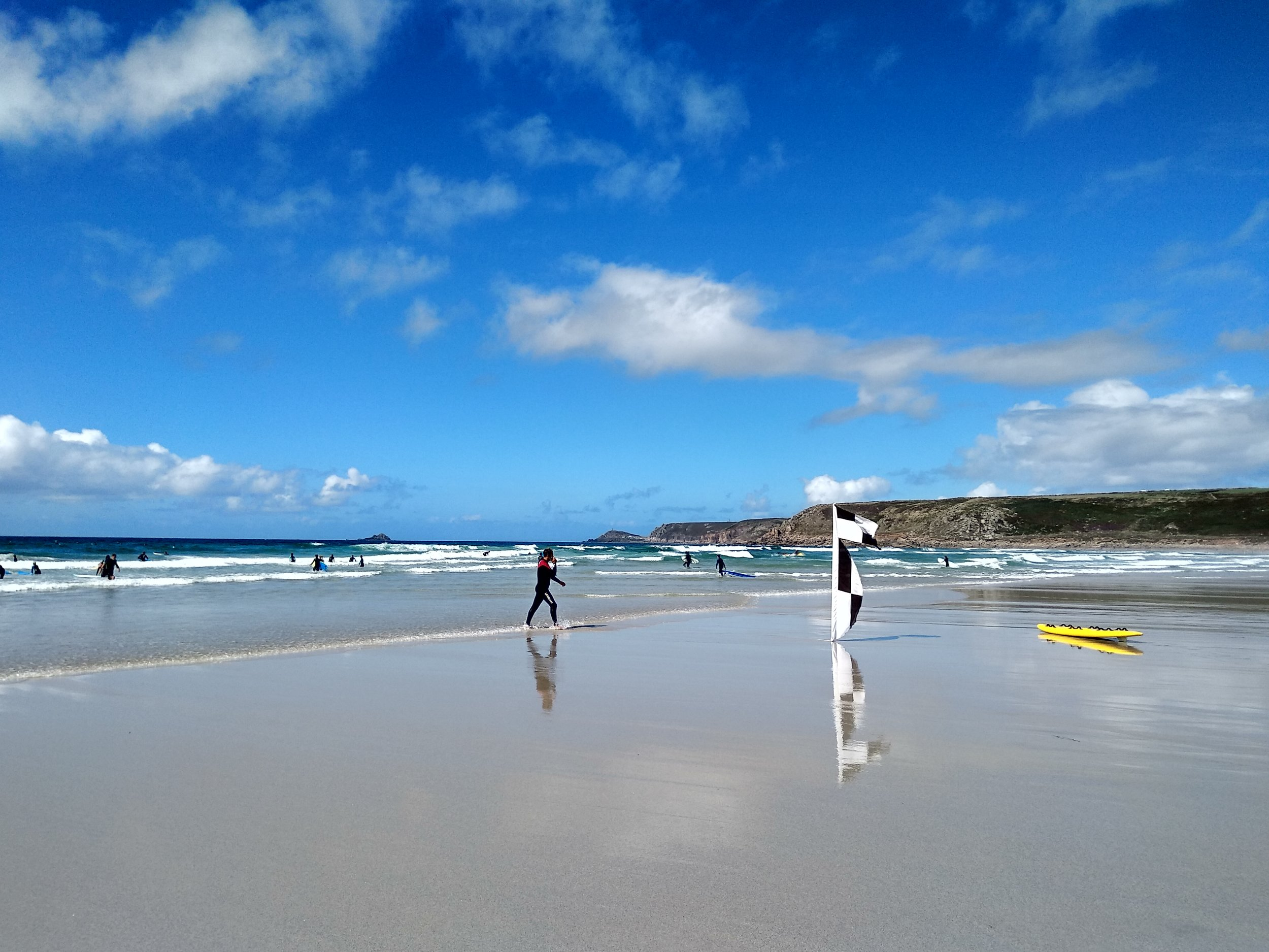 A beach day at Sennen Cove, the surf capital of the UK.