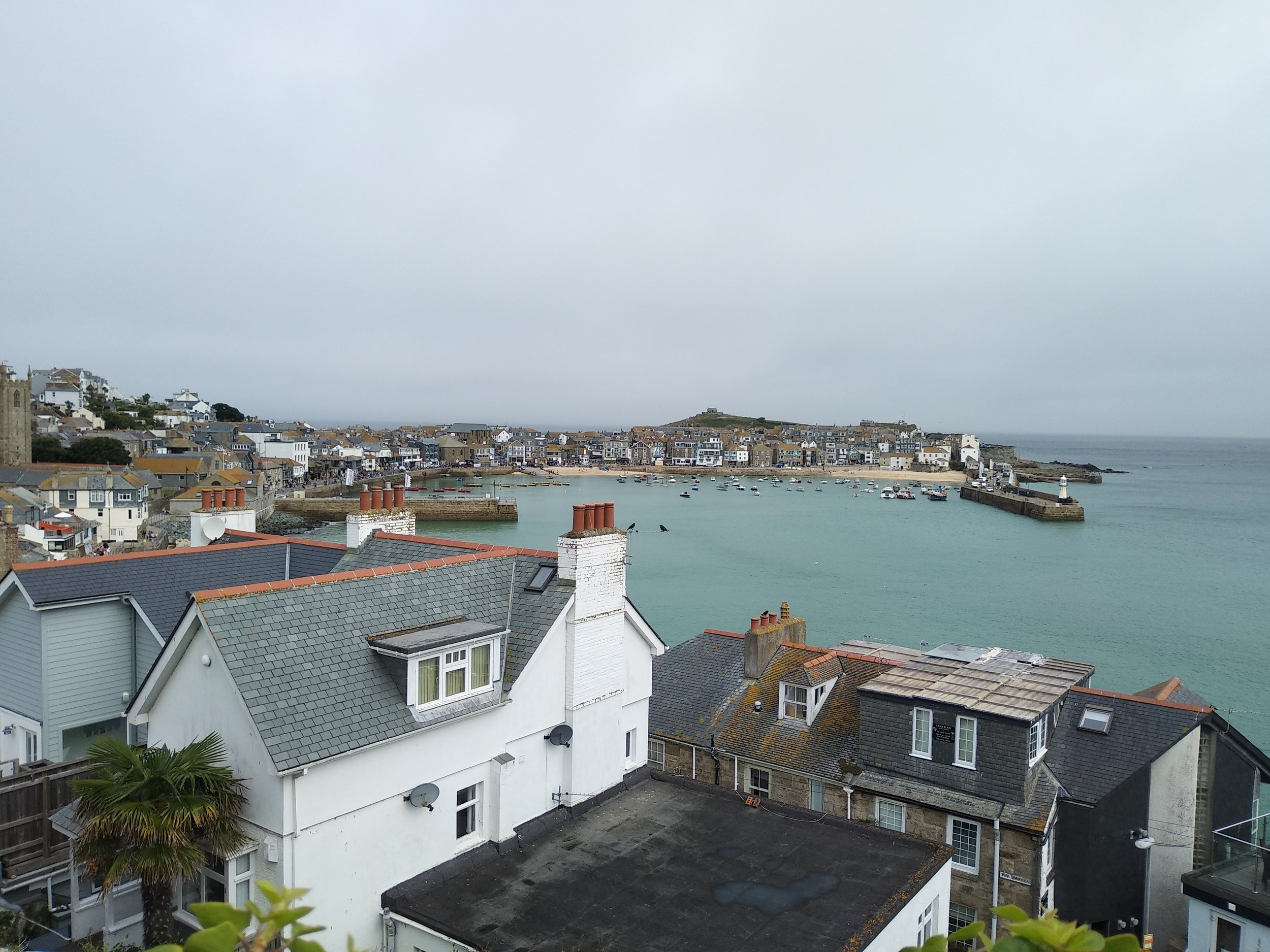 The very beautiful and very crowded St Ives.