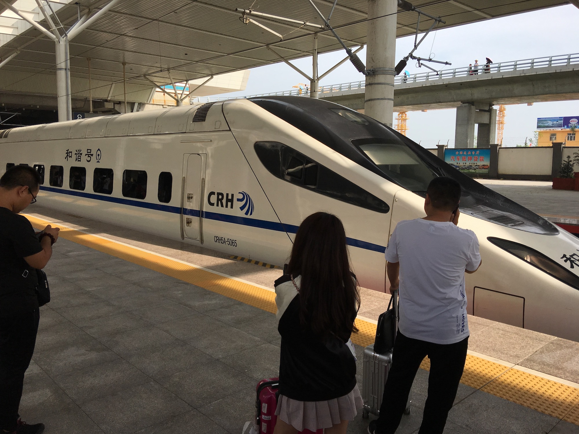 The bullet train is the way to travel within China. I much prefer it to flying if I've got the time.