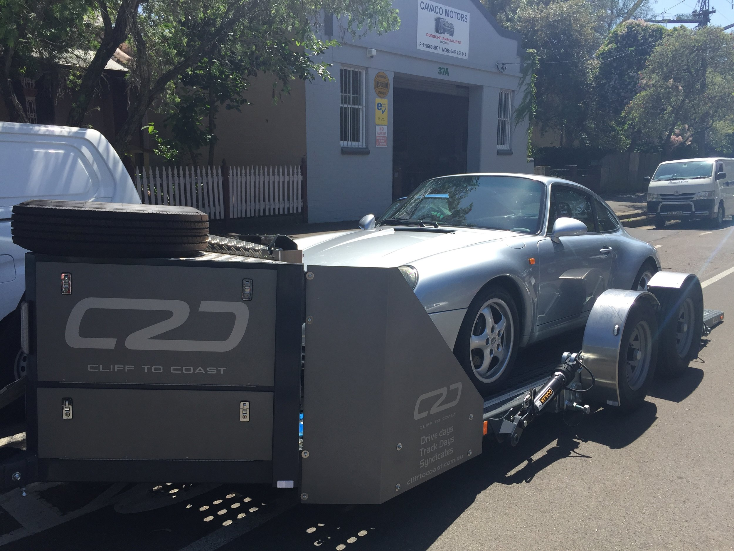 Delivering a Porsche to Cavacos - Air Cooled Porsche Servicing Specialists