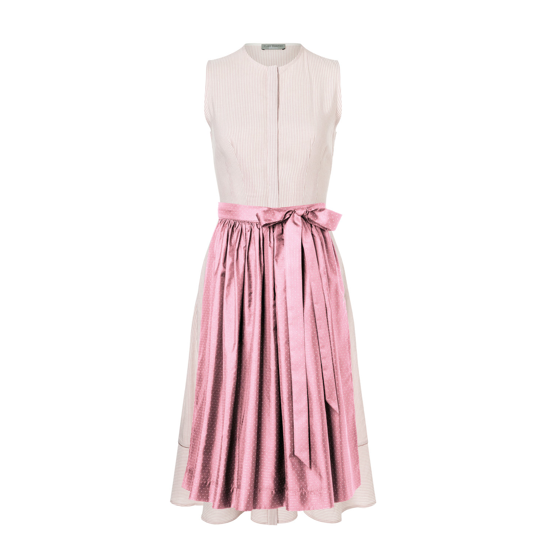 Kleid LIVIA rosa/weiss Dirndl — Clara Dorothea