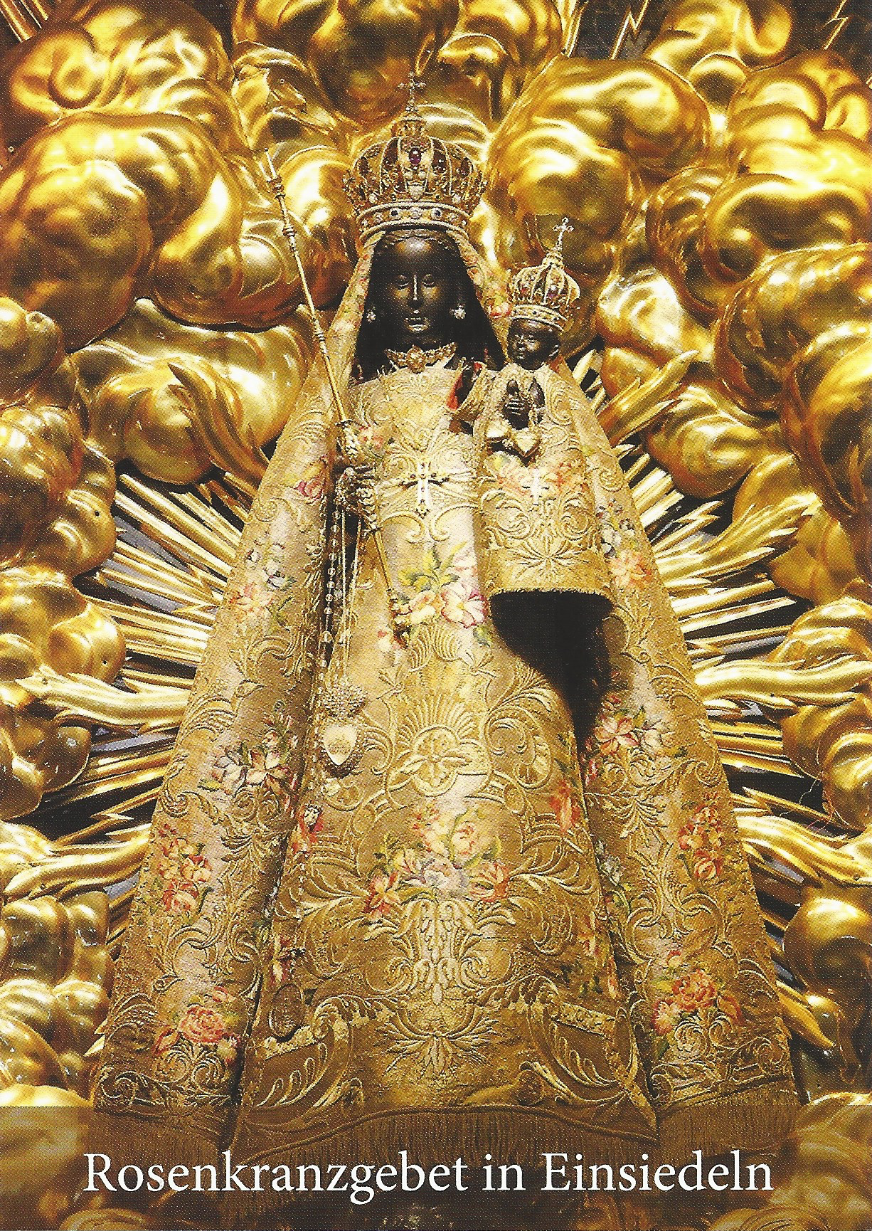 The Black Madonna of Einsiedeln. Scan of the rosary booklet from the monastery.