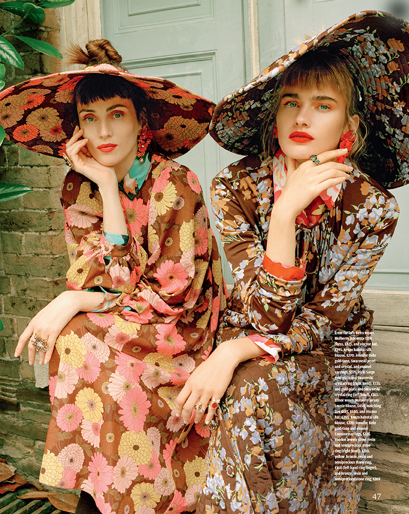 Dark Florals - A magical trip to Port Elliott Estate, Cornwall.Fashion editorial photographed by Vikram Kushway for the Financial Times How To Spend It Magazine. Fashion by Hannah Teare. Hair by Adrian Clarke. Make up by Nat van Zee. Set Design by Matthew Duguid.