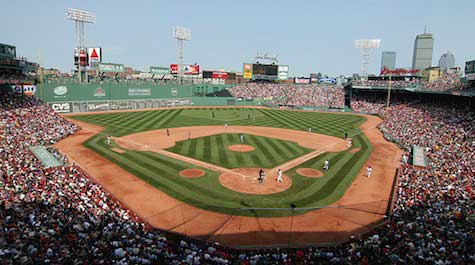 The famous Fenway Park Ballpark. Picture from Fenway Park.