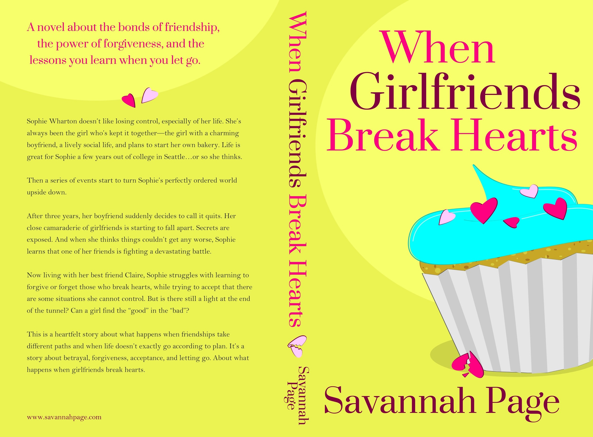 When Girlfriends Break Hearts By Savannah Page - Full Paperback Book Cover