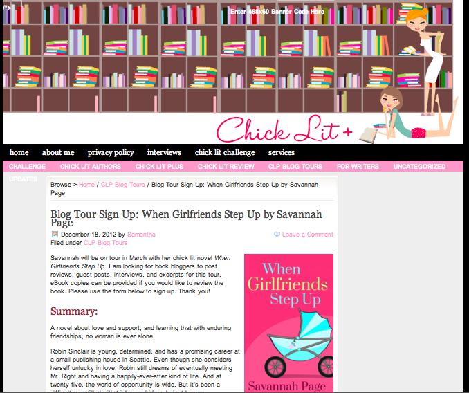 Chick Lit Plus Feature - Savannah Page