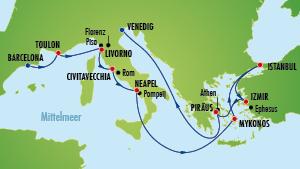 Mittelmeer Reise
