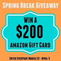 Spring-Break-Amazon 200 Dollar Gift Card Giveaway - Savannah Page