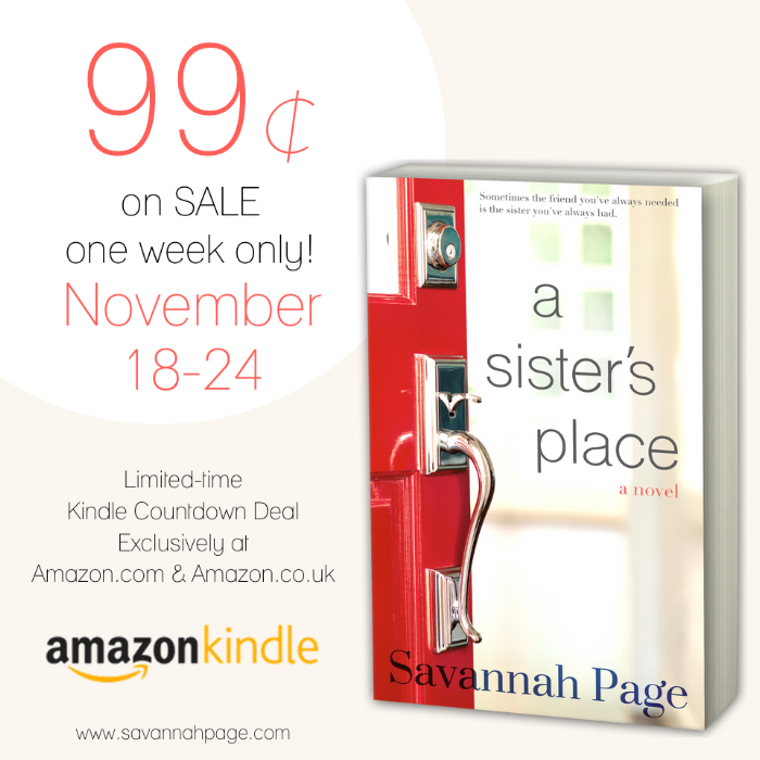 A Sister's Place by Savannah Page 99cents Kindle Countdown Deal 2016.png