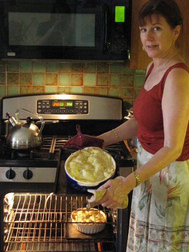 Rose Caldwell preparing lunch