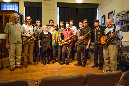 Post-concert photo with Reggie Workman