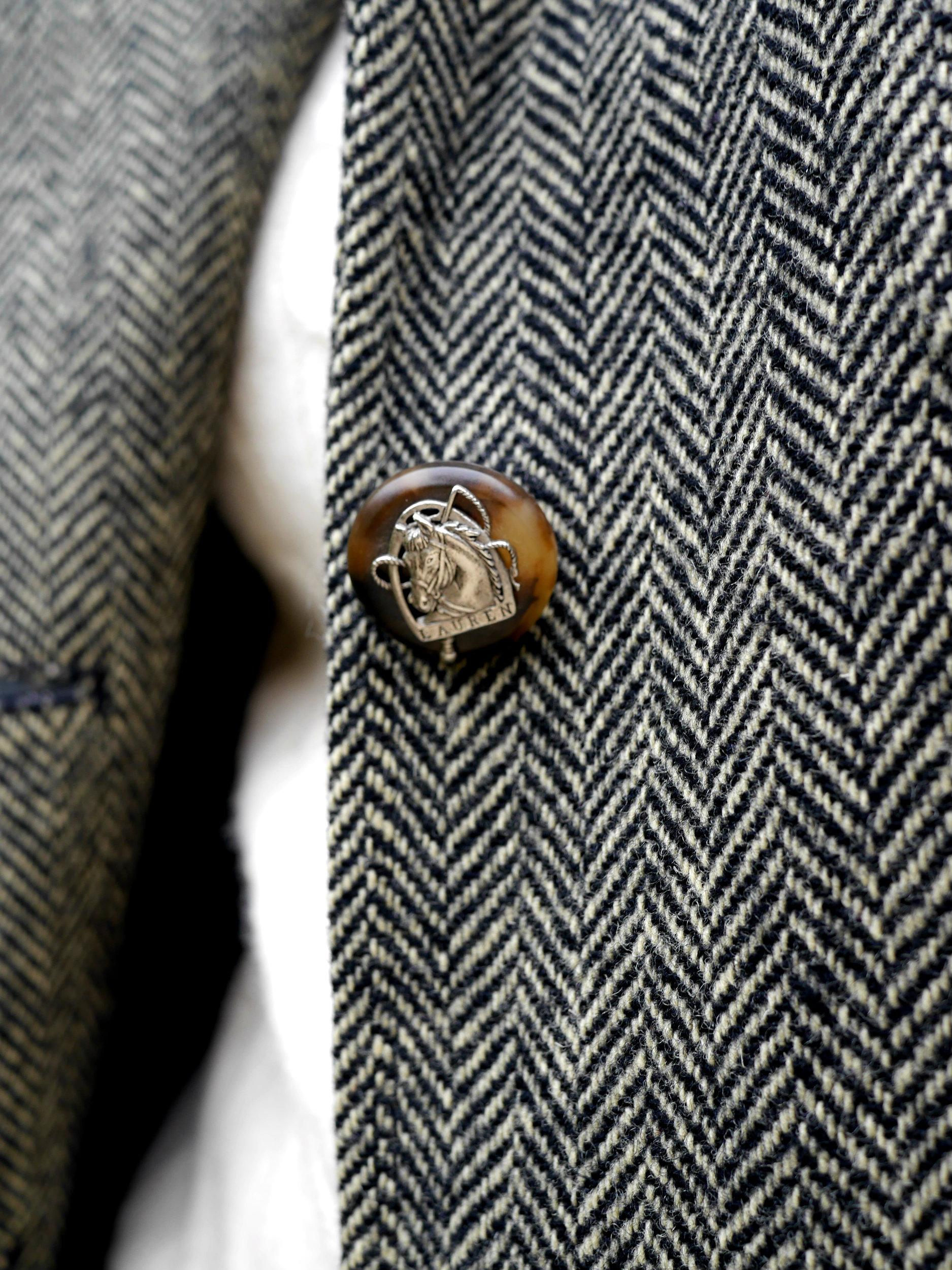 Ralph Lauren Herringbone Blazer Sebago Loafers Cashmere Sweater LOFT Jeans