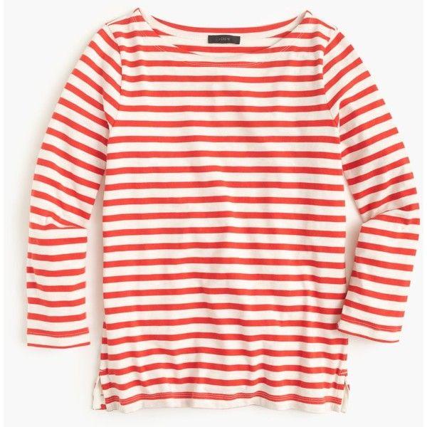 J Crew Striped Boatneck T-Shirt - $39.50