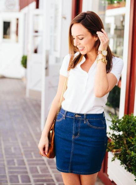 polo shirt denim skirt.jpg