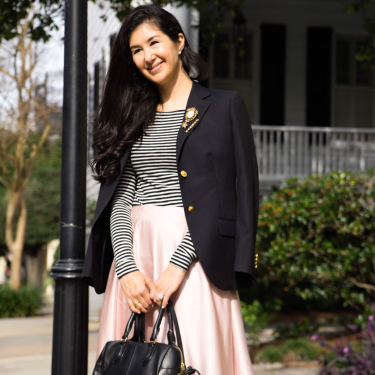 Charleston+South+Carolina+Brooks+Brothers+Navy+Blazer+Chanel+Ballet+Flats+J+Crew+Striped+T.png