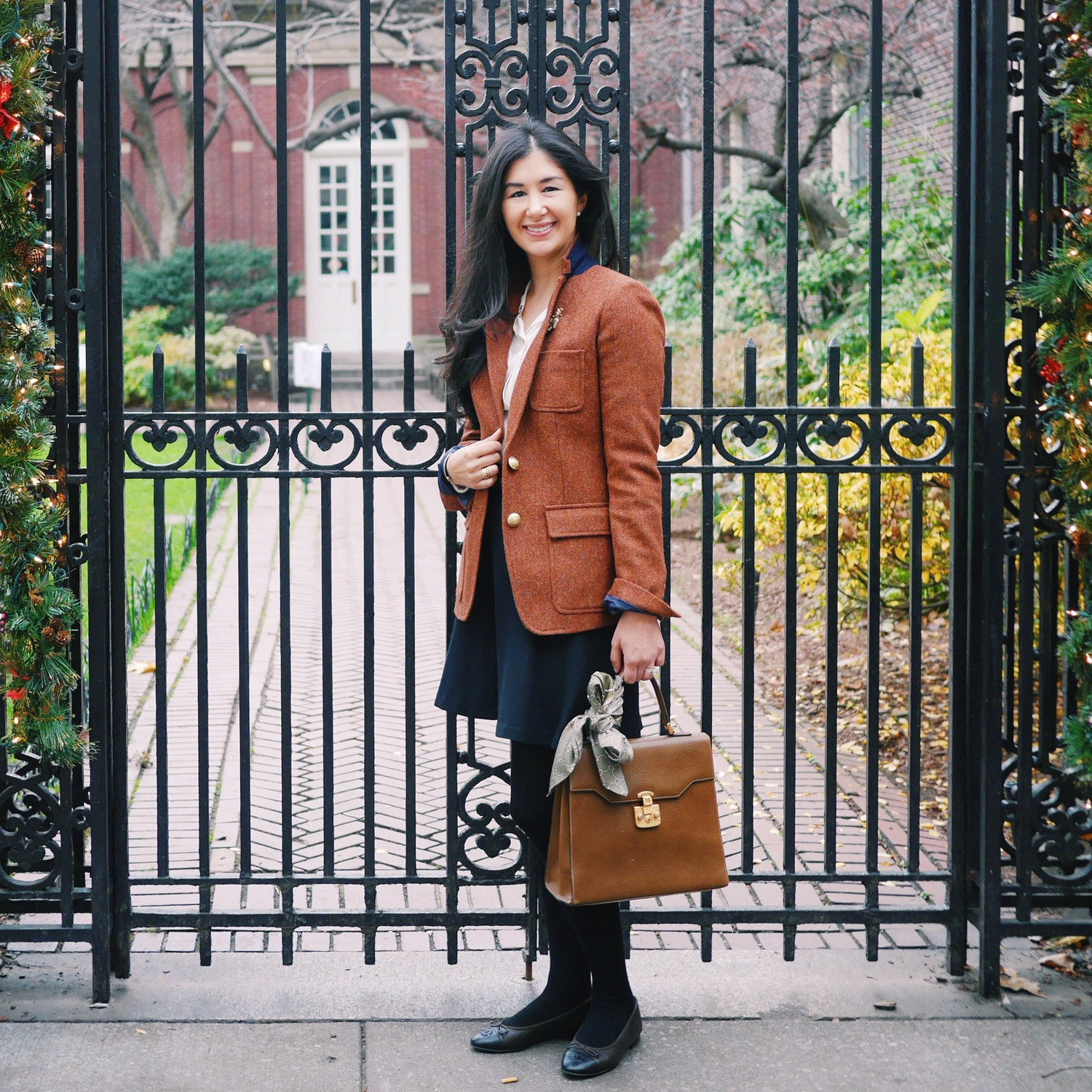J+Crew+Rhodes+Blazer+Chanel+Flats+Gucci+Kelly+Bag+Everlane+Silk+Shirt+C+Wonder+Silk+Scarf+LOFT+Black+Skirt.jpeg