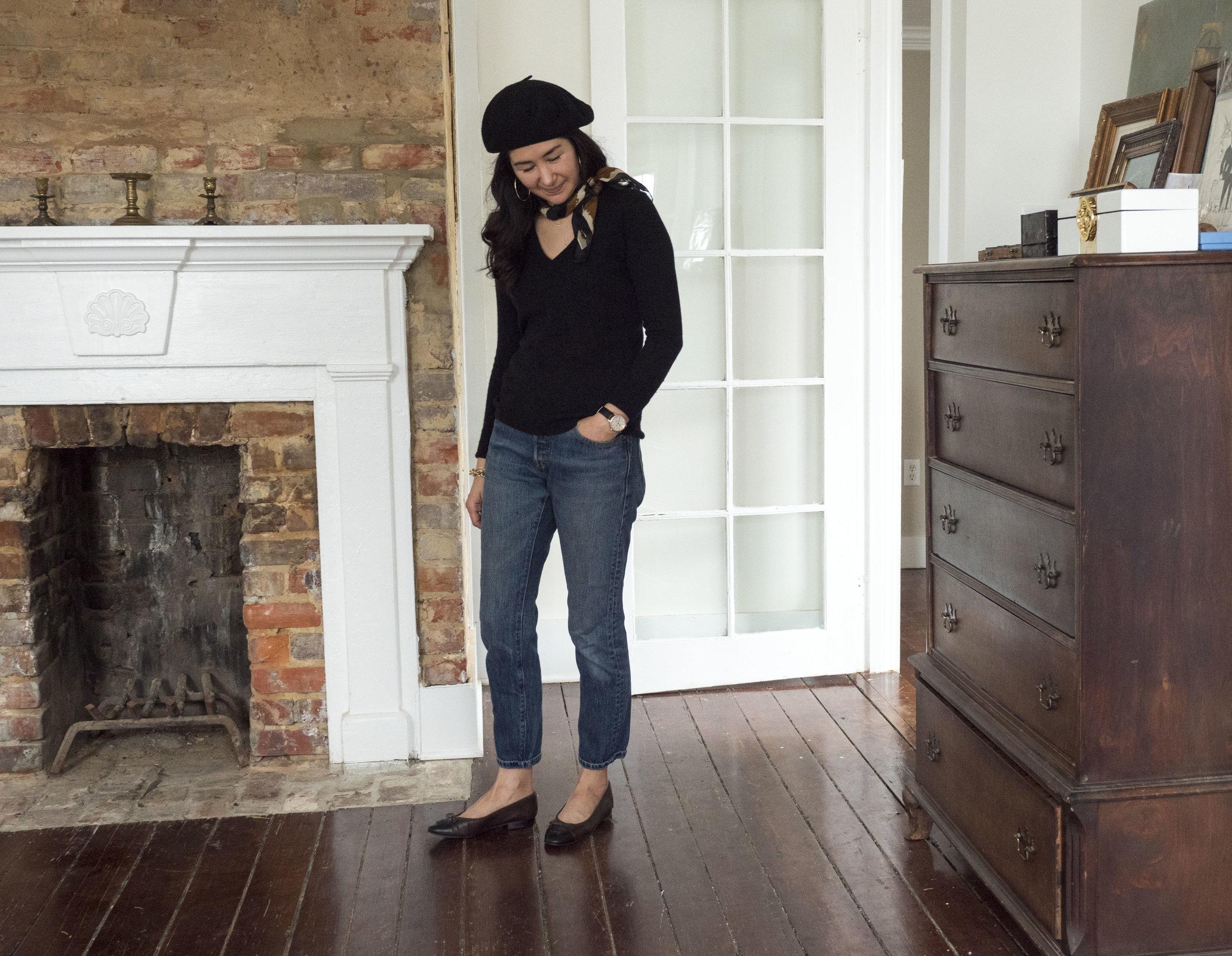 _1022164audrey_a_la_mode_mejuri-camel-coat-everlane-jeans-jacy-watch-chanel-ballet-flats-round-sunglasses-beret-everlane-cashmere.JPG