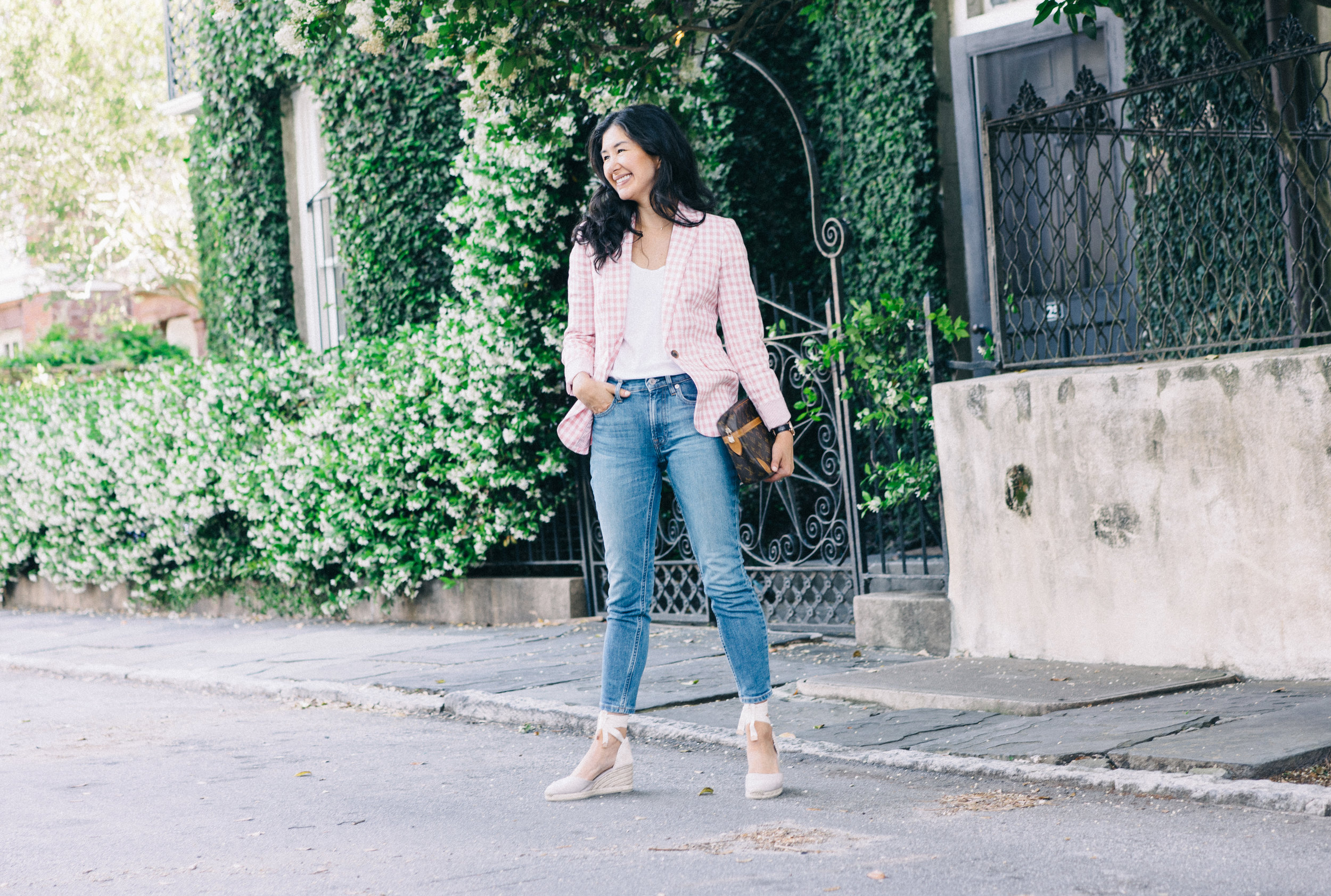 jcrew-gimgham-blazer-castaner-carina-espadrilles-louis-vuitton-clutch-everlane-jeans-everlane-tee-mejuri-diamond-necklace-jacy-watch-27.jpg