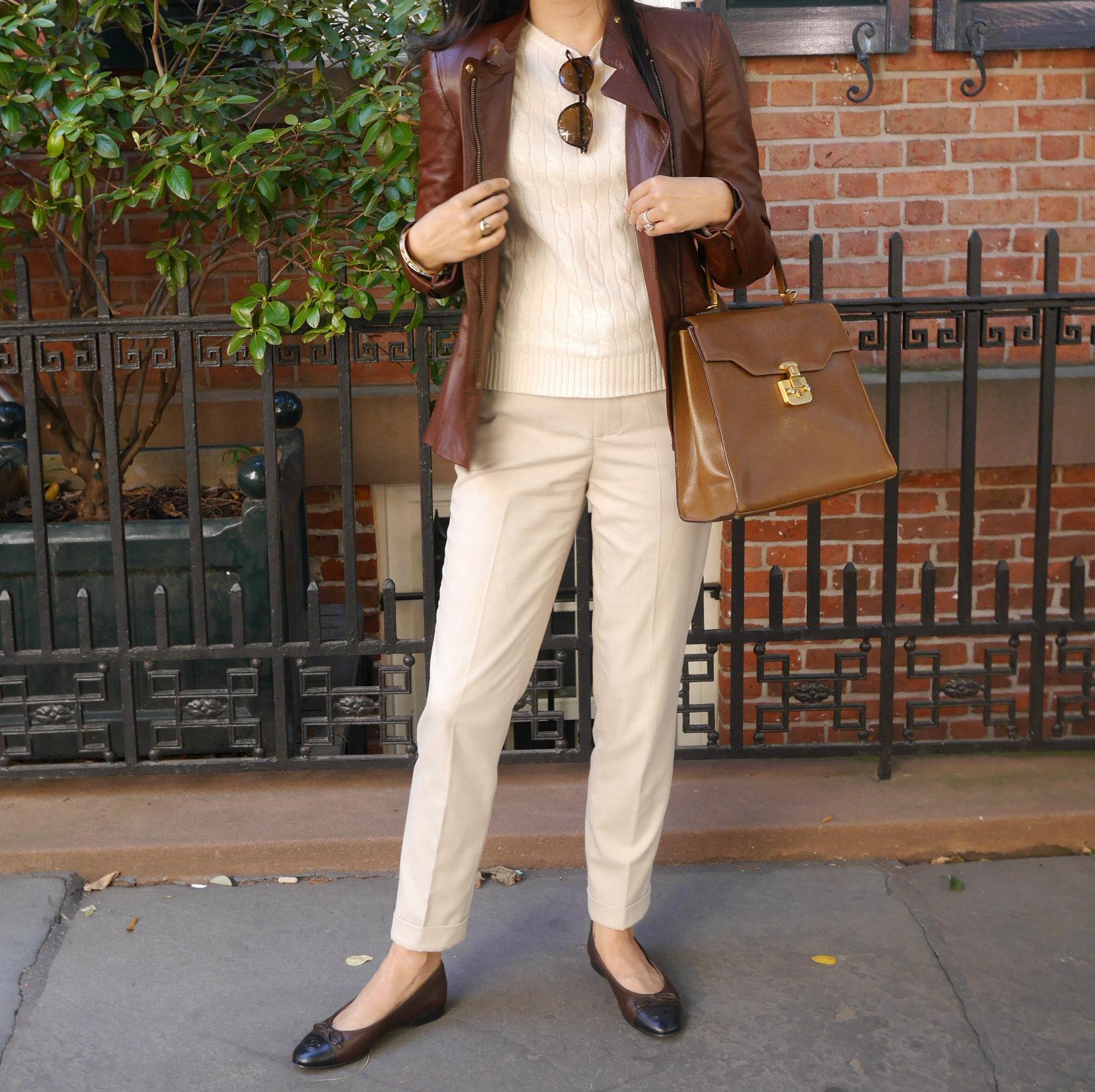 Zara+Leather+Jacket+Zara+Pants+Vintage+Gucci+Bag+Chanel+Flats+Cashmere+Sweater.jpeg