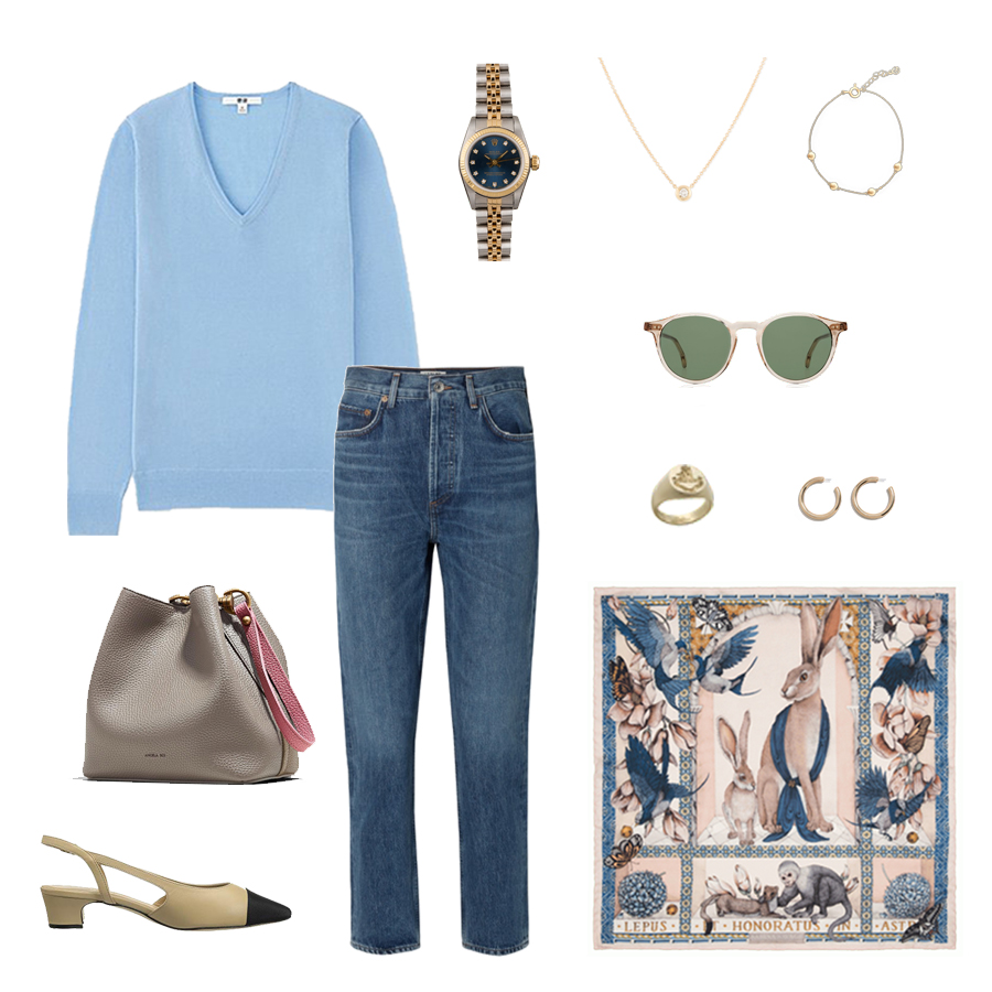 rolex day date - sabina savage scarf-vaneli aliz pumps-angela roi-ruffs signet ring.jpg