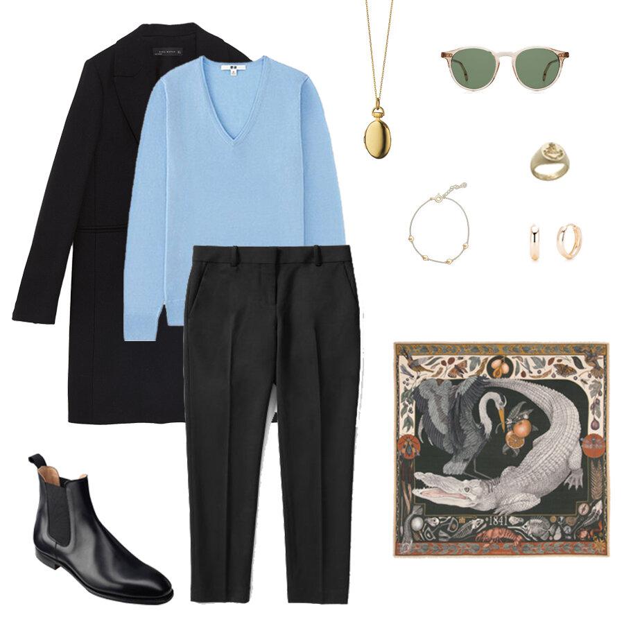 everlane goweave pants.- uniqlo sweater - crockett and jones boots - sabina savage scarf - monica rich kosann locket.jpg