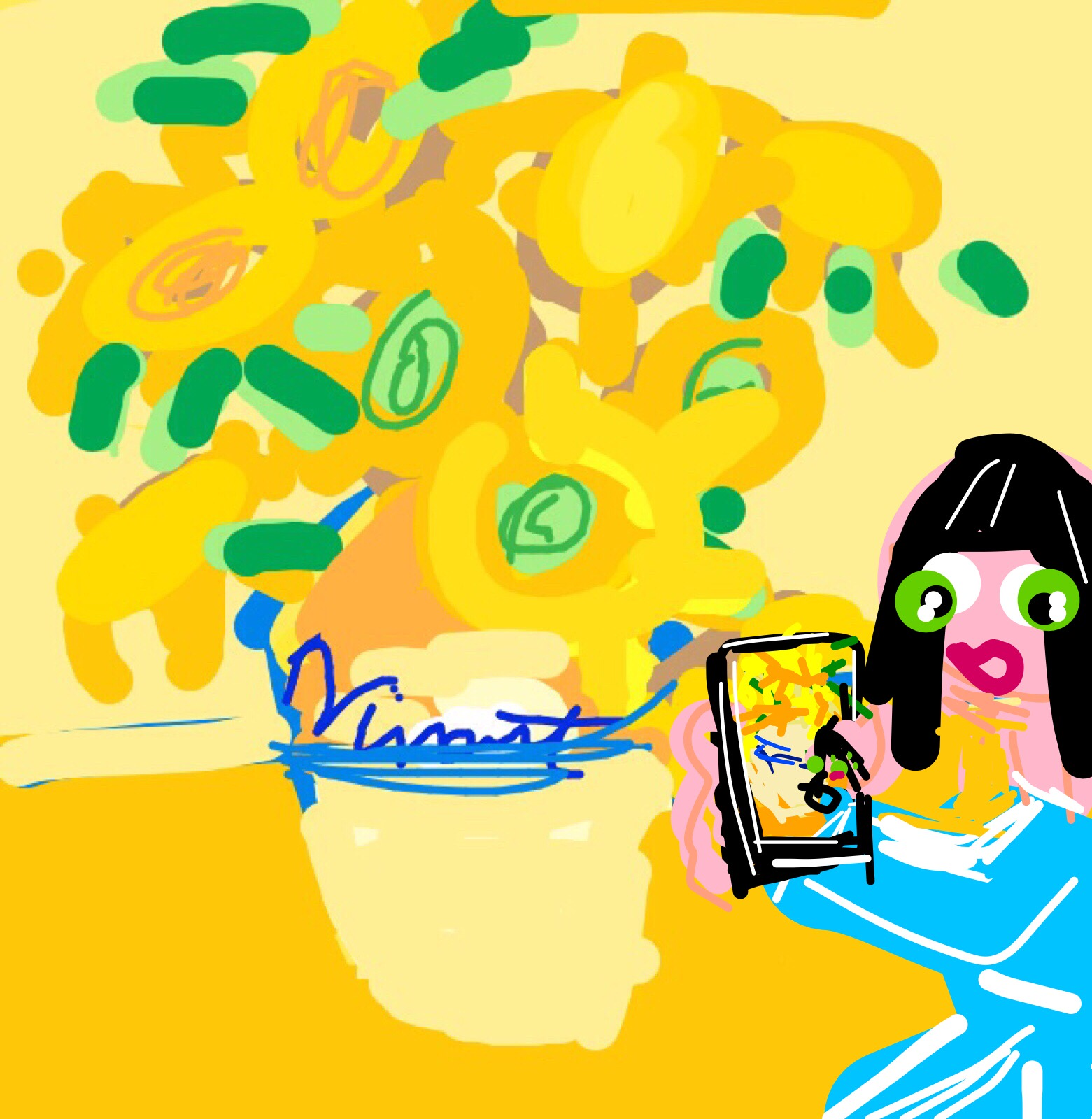 #MuseumSelfie with Sunflowers by Vincent van Gogh, 1888 at @NationalGallery
