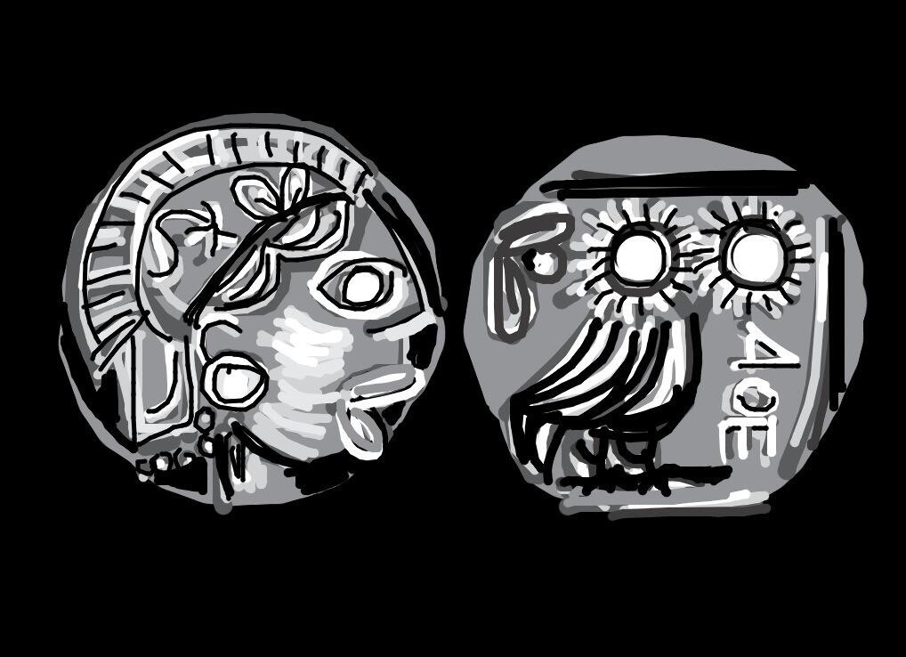 Athenian Coin 5th Century BC